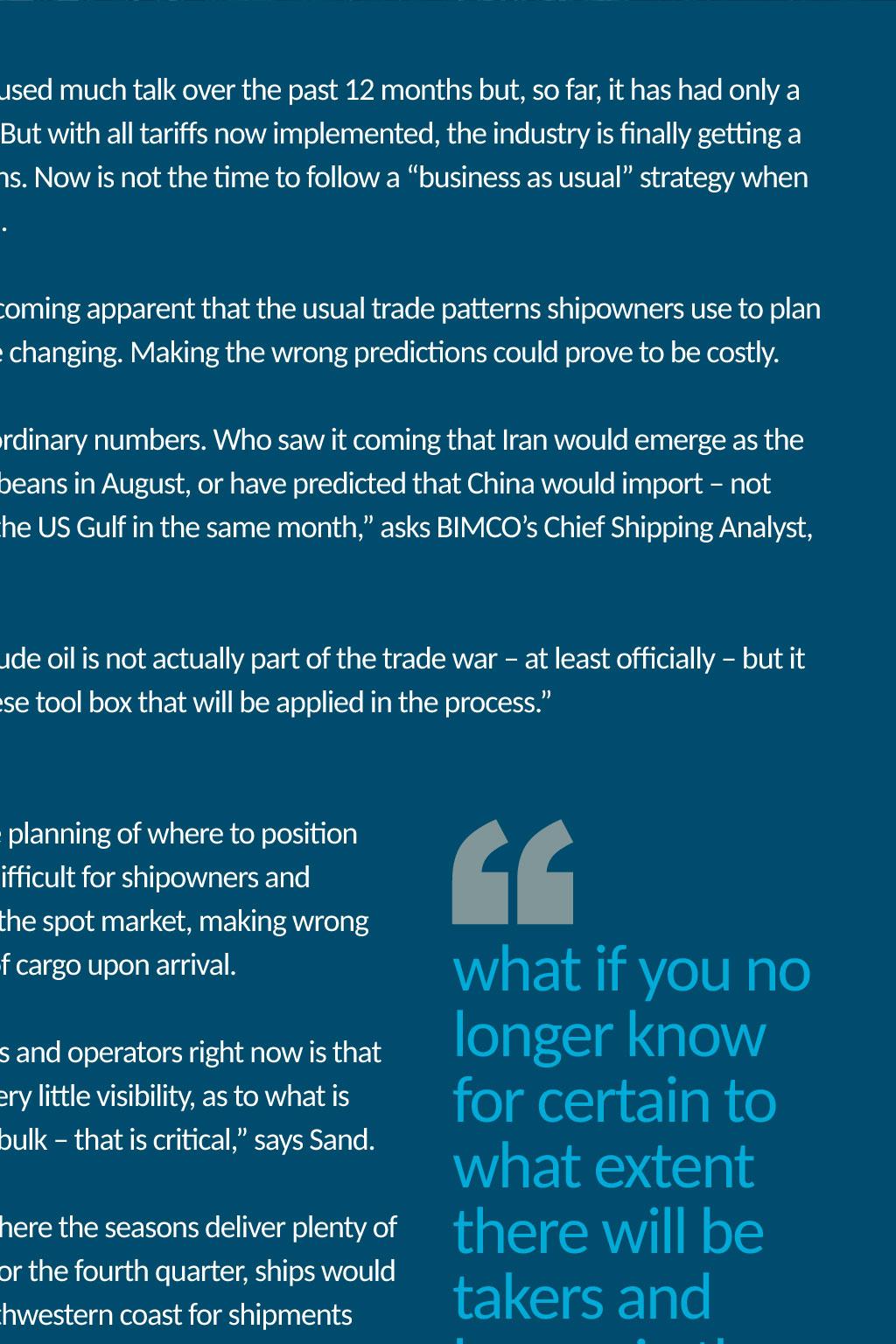 Trade War - BIMCO Bulletin